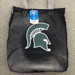 NWT Made to look vintage MSU tote bag